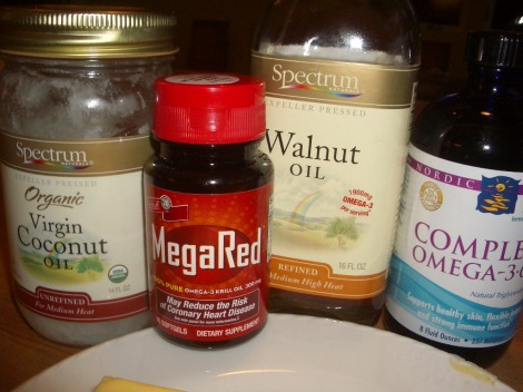 Omega 3, Coconut Oil, Krill Oil, Walnut Oil for the Modified Atkins for Seizures Diet